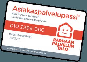 Asiakaspalvelupassi -kortti